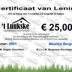 Uitgelote Certificaten 2019