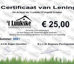 Uitgelote Certificaten 2018