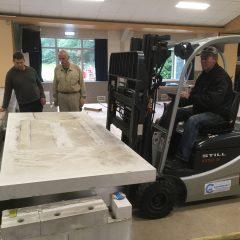 Voorbereidingen nieuwe zaalvloer MFC 't Luukske