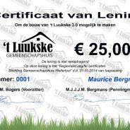 Uitgelote Certificaten 2020